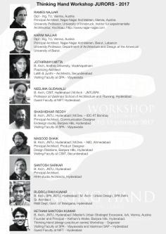 Thinking Hand (design practicum series) Workshop from 12 to 15 jan2017