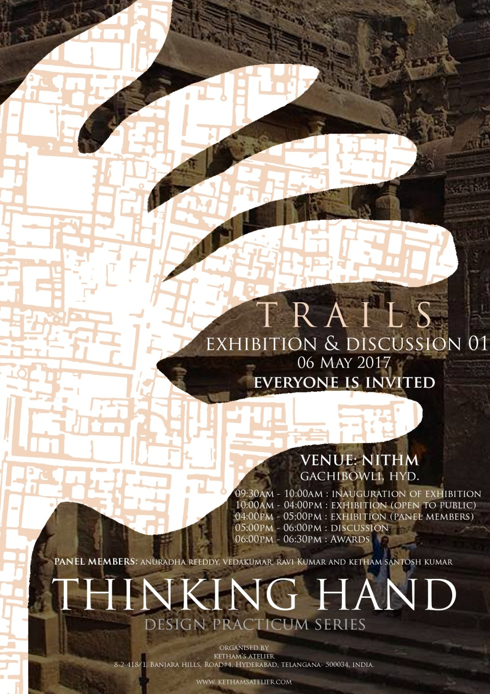 Thinking Hand TRAILS - exhibition poster