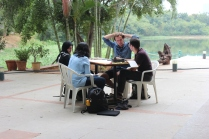 TH discussion among team members 4