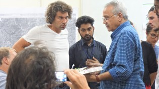 TH K.T Ravindran, Oliver, Najjar and Stefan in conversation