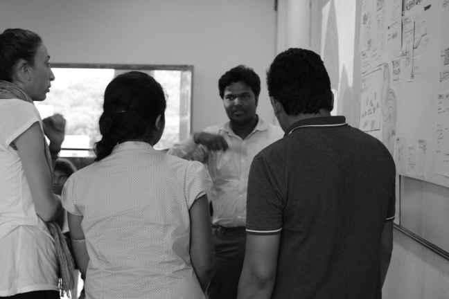 TH Ketham Santosh Kumar in conversation with students