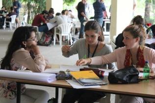 Thinking Hand workshop students working