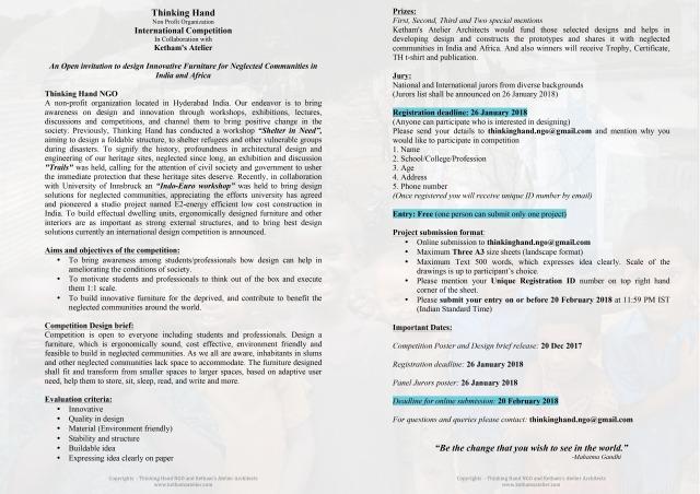 Thinking Hand International Competition Brief
