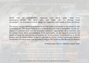 Press Release _ Competition Results 2018_Thinking hand ngo and Kethams Atelier2