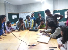 IIT-Ketham Santosh Kumar in conversation with IIT - M.Des students