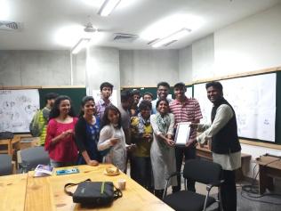 IIT-Ketham Santosh Kumar with IIT M.Des students