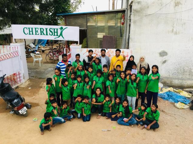 Thinking Hand one day with cherish orphanage kids-Ketham Santosh Kumar 1