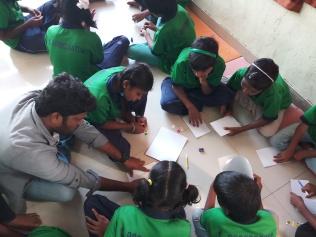 Thinking Hand one day with cherish orphanage kids-Ketham Santosh Kumar 4