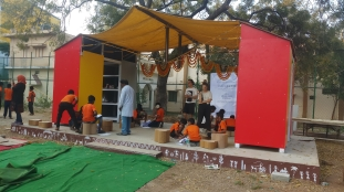 02Classroom and pavilion in use-Thinking Hand NGO