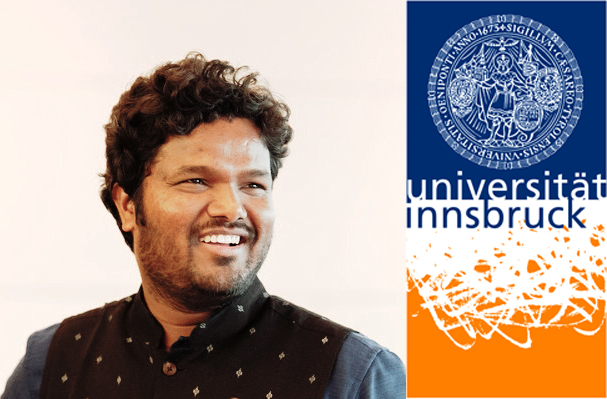 Our Thinking Hand NGO founder and principal Ar. Ketham Santosh Kumar Awarded Young Research Grant for Research Adaptive Architecture and Urbanism from Vice Rector for Research Univ.-Prof. Dr. Ulrike Tanzer University of Innsbruck.